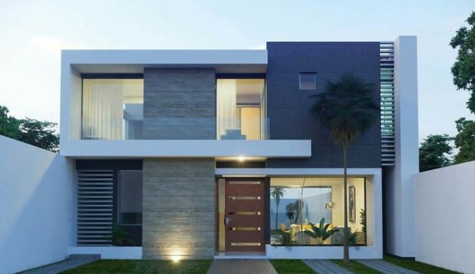 Do exterior and interior designs 3d by 3dsmax revit and - Revit exterior rendering settings ...