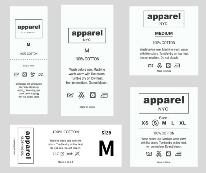 Create A Washing Label Clothing Care Label Laundry Instructions By