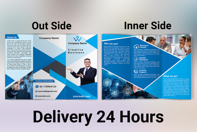 design tri fold brochure within 24 hours by mdaminur1