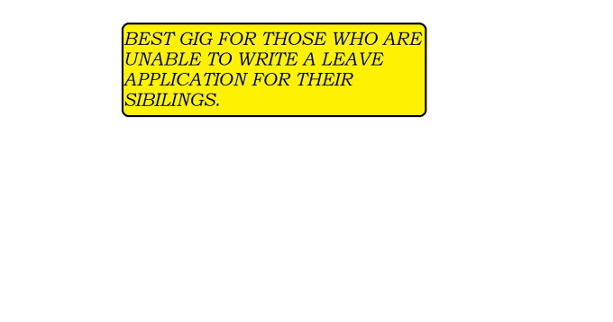 write a leave application