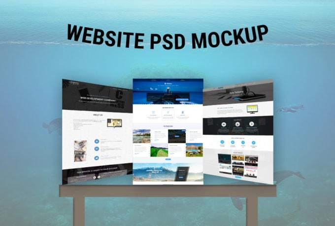 Design Creative Psd Website Mockup By Rajkal