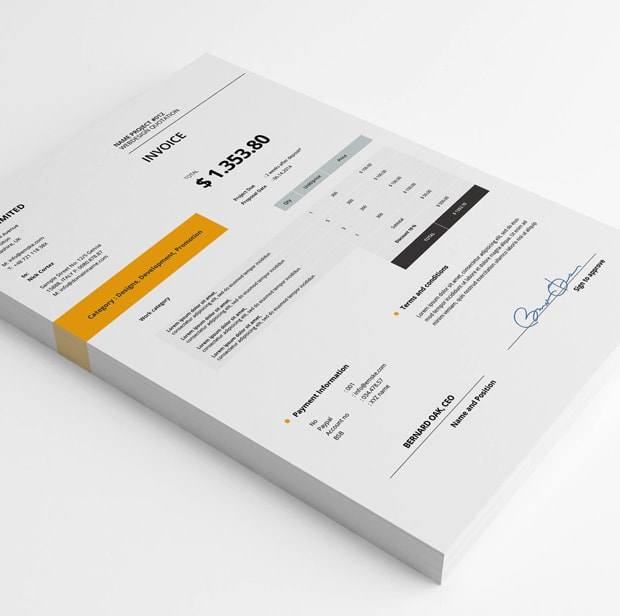 Create Invoice Template Design By Androclesdaud - Invoice template design