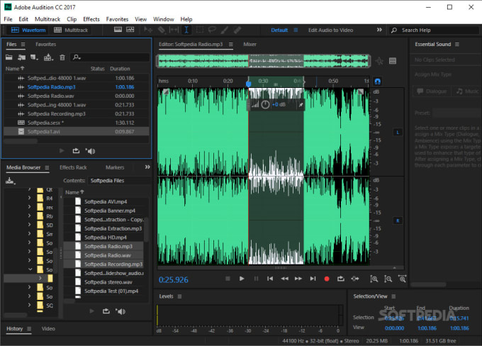 edit a raw podcast or radio recording to make it sound professional