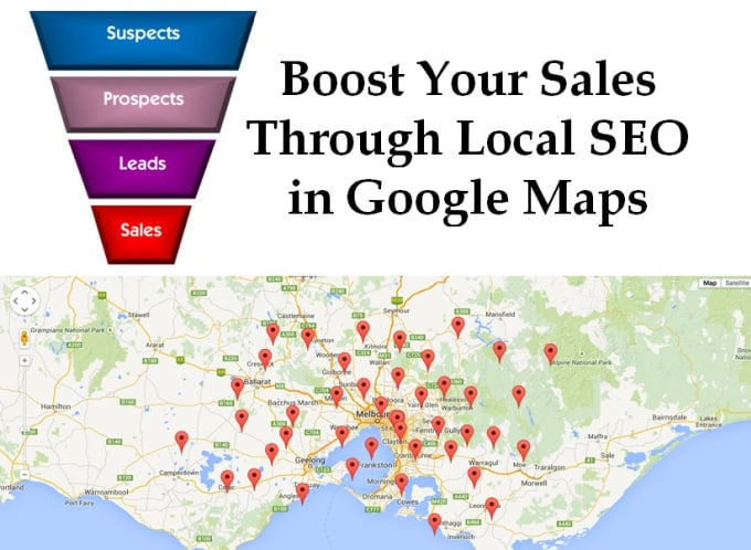 boost your sales through local SEO in google maps on google voice, google earth, web mapping, satellite map images with missing or unclear data, route planning software, bing maps, google map maker, yahoo! maps, google search, nokia maps, google moon, google latitude, bing maps platform, google sky, google mars,