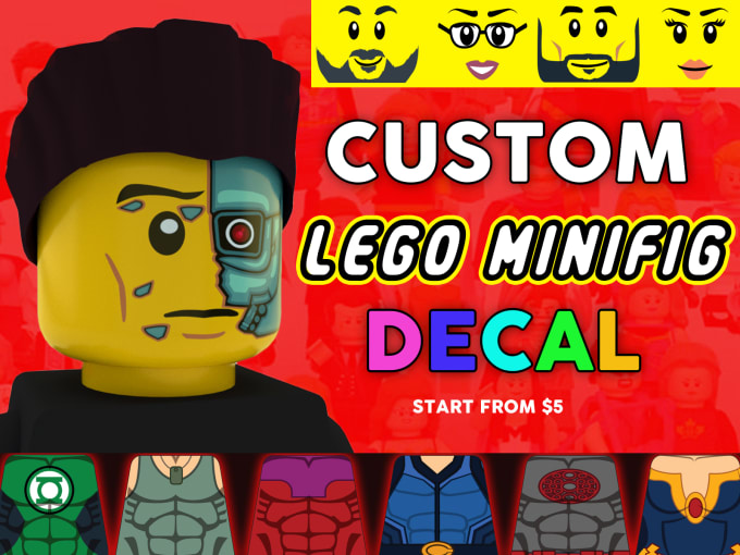 design custom lego minifigures decal sticker