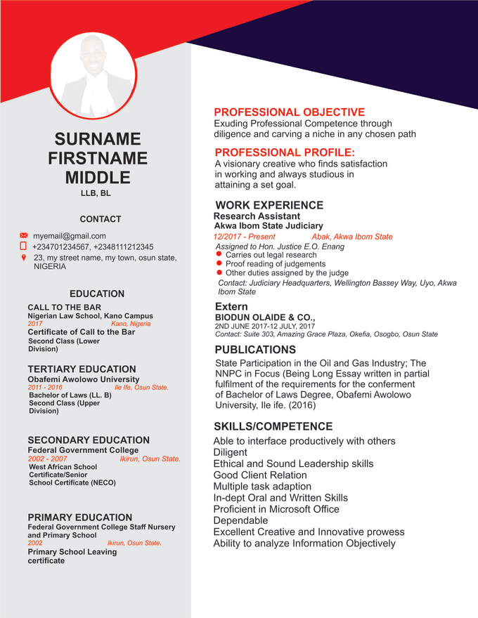 design a nice cv or resume by isiakaquadry