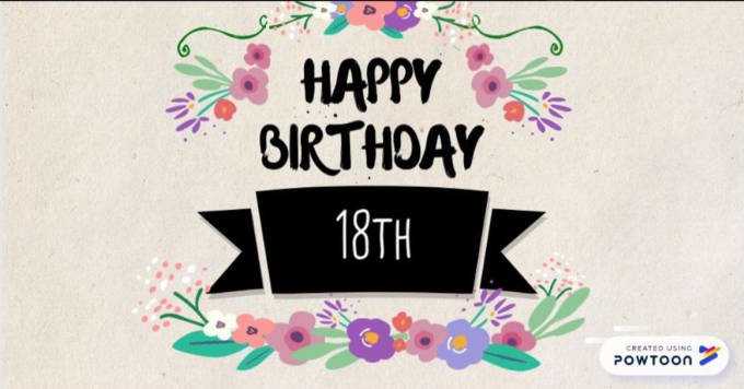 18th Birthday Greeting Card By Juliusgarcia