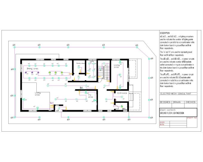 do electrical installation design and plumbing design on green plan, church plan, salvation plan,