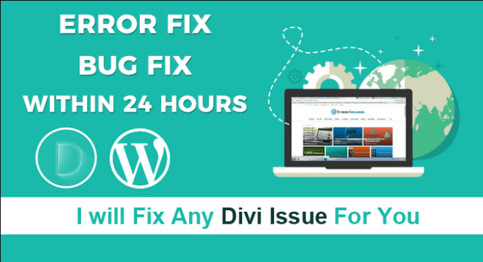 fix divi issues in 24 hrs