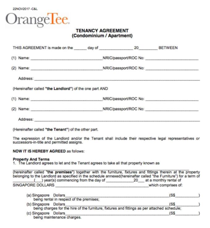 Prepare A Singapore Residential Tenancy Agreement By Franzramos