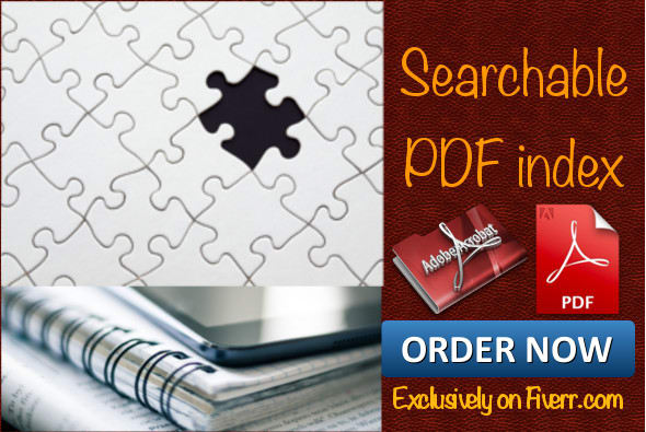 create searchable PDF index to accelerate your searching
