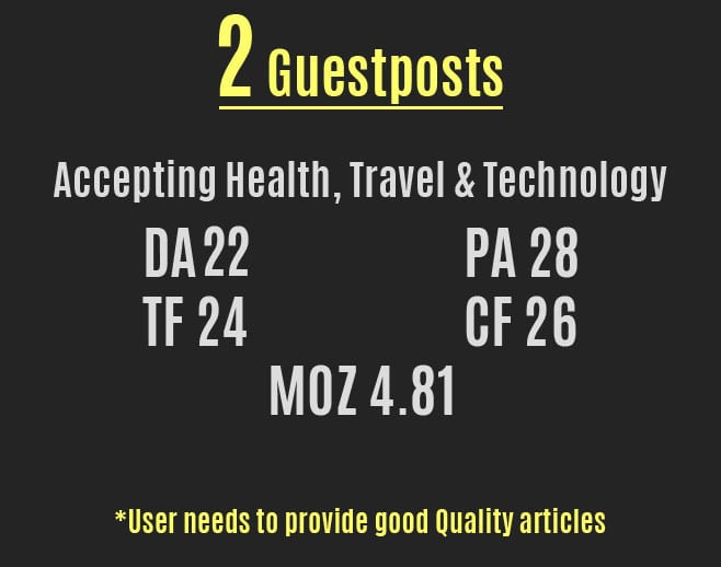 post health, travel or technology article on guest blog