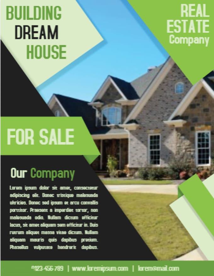 design real estate flyer for 2 days by saidi sj
