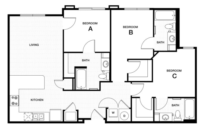 floor plan for building or apartment