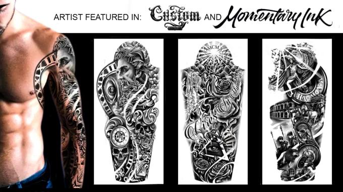 Columbus Custom Tattoo Designs: Create High Quality Digital Drawn Custom Tattoo Designs By