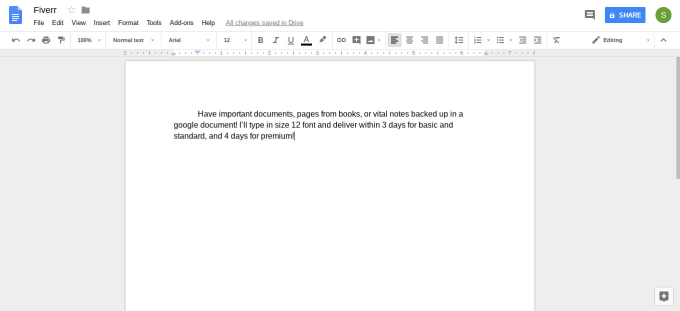 copy scanned documents, books, or notes into a google doc