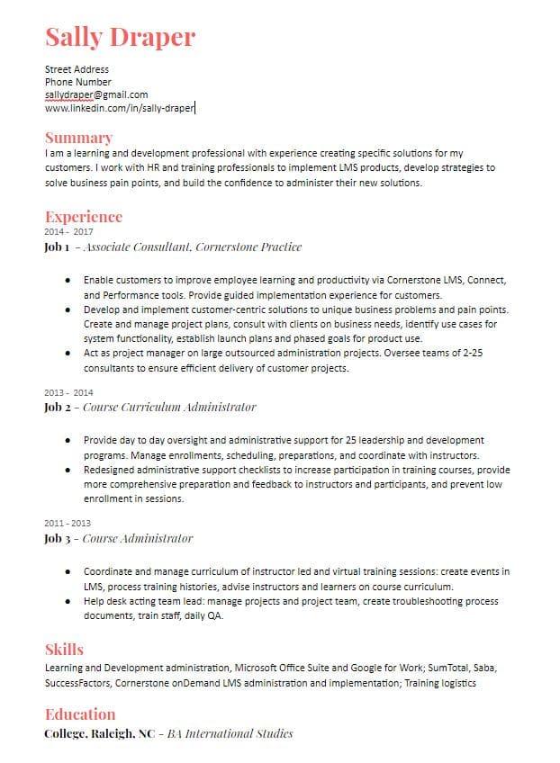 Create A Fantastic Resume