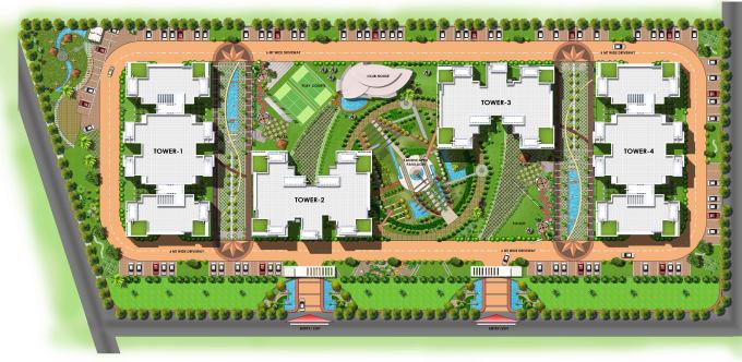 coloured presentation site plan or master plan by sheru1989