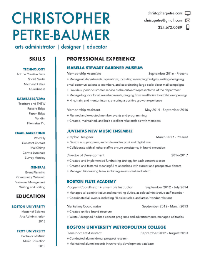 Redesign your resume and cover letter by Petrebaumer