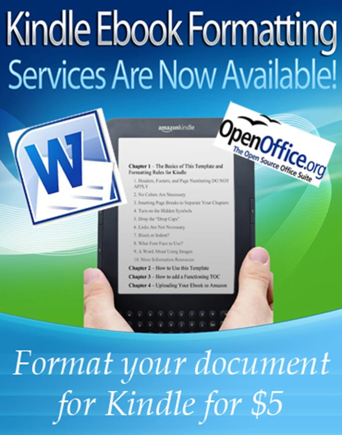 mohsinbhatti31 : I will do kindle formatting services with clickable toc  for $5 on www fiverr com