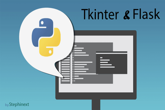write python flask and tkinter applications