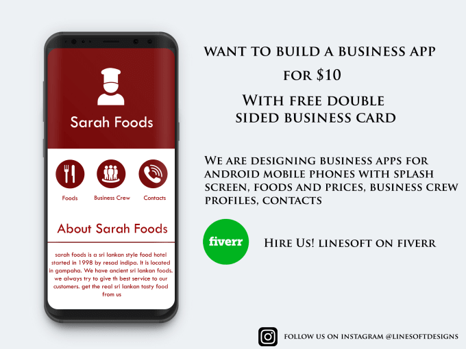 Create A Business App With Free Business Card App Mockup By Linesoft