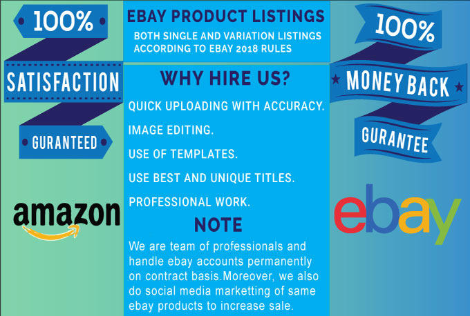 do ebay and amazon listing for you