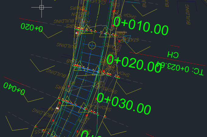 design any road projects in civil 3d and autocad