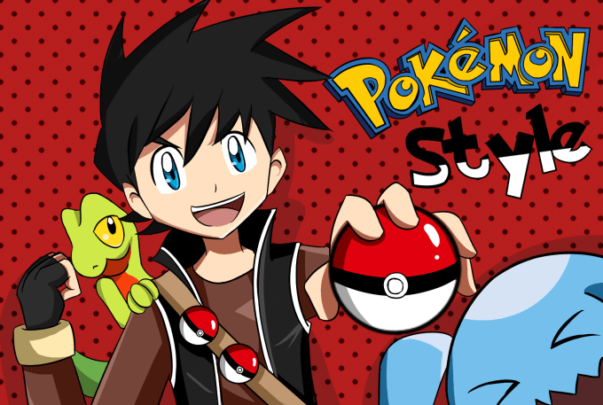 draw yourself or any character as pokemon trainer
