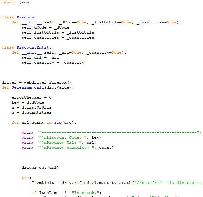 write selenium bot scripts in python