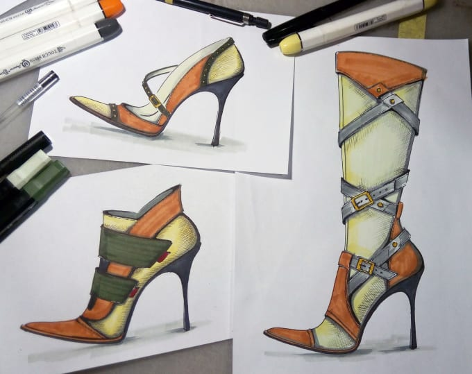 Create For You A Design Of Shoes Sketches