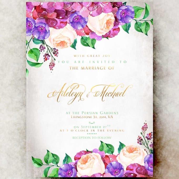 Create Modern Cards Wedding Invitation Cards