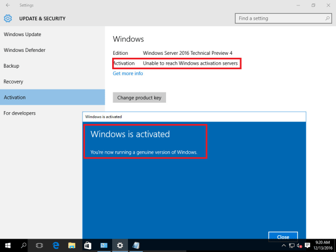 windows server activator 2016