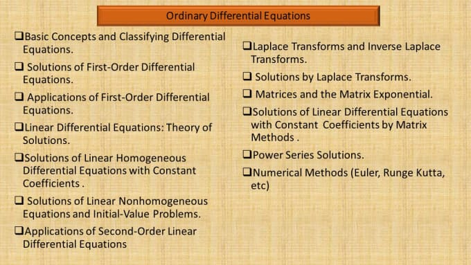 ordinary differential equations and systems