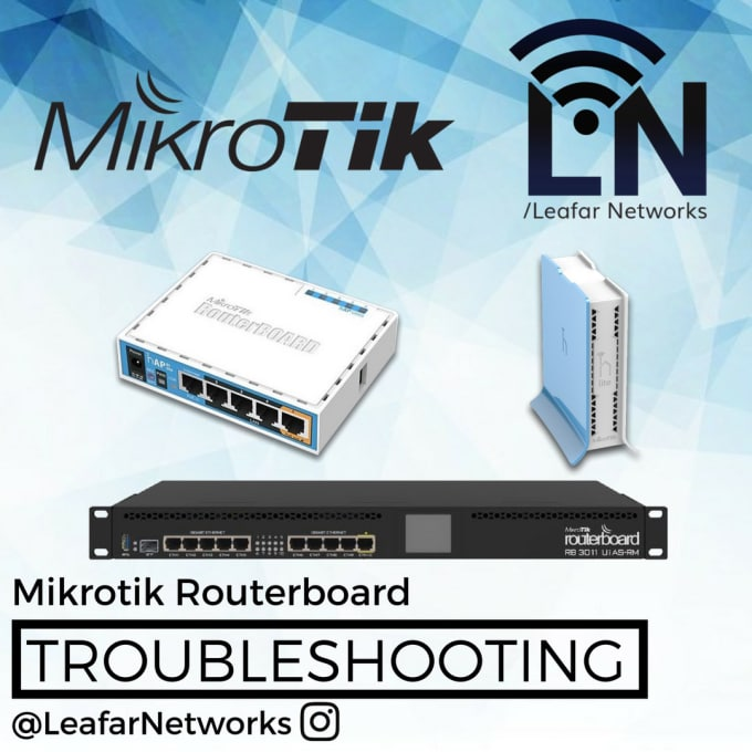 configure or troubleshoot your mikrotik routerboard