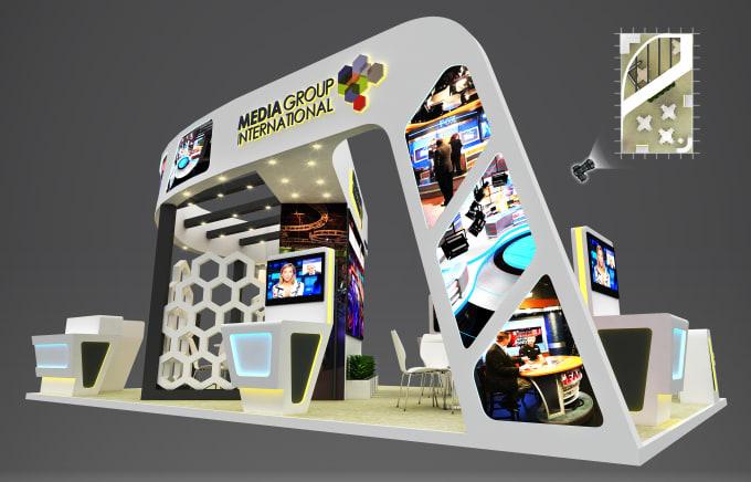 Expo Stands Kioska : Design your impressive 3d exhibition stand kiosk by abdullahmujtaba