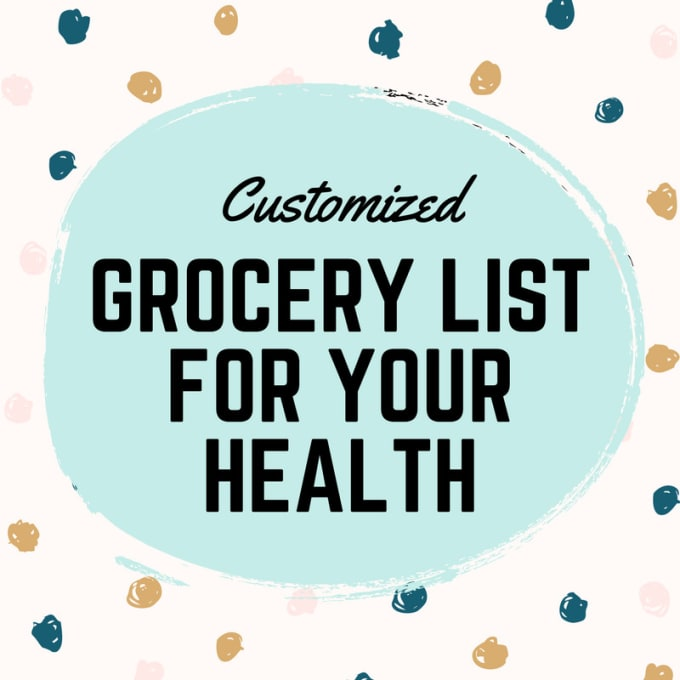 create a unique grocery shopping list to plan meals or recipes by