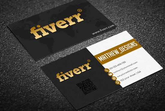 create clean business card design by matthew designs