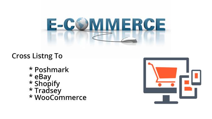 create cross listings on poshmark, ebay, shopify, tradsey manually