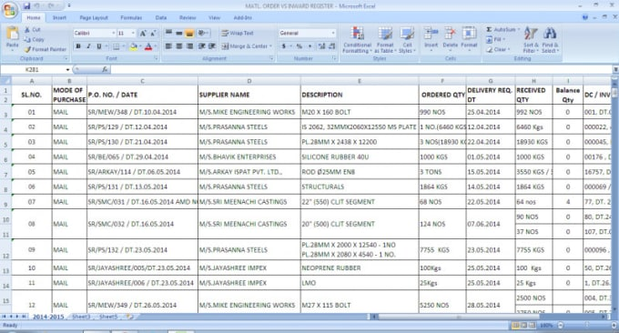 do word and excel data entry by sureshsumitha