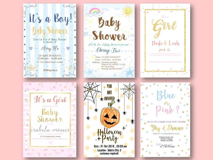 Design A Baby Shower Birthday Christmas Invitations Card