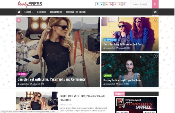 Modify or design your blogger template by vibunacci.
