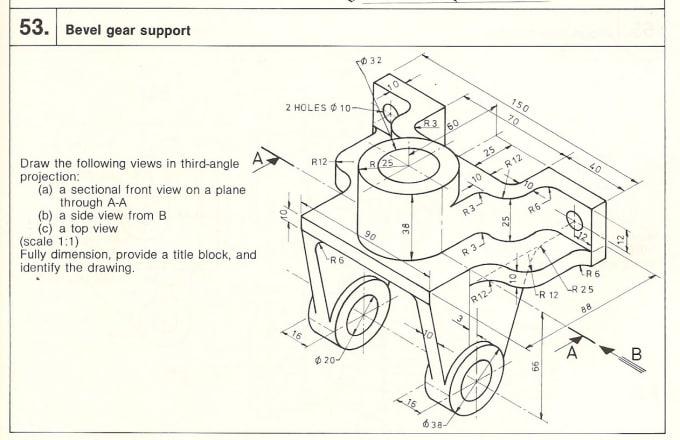 Make Mechanical Drawingcam Solid Partpdfdrwdrafting By Hunaidbaig