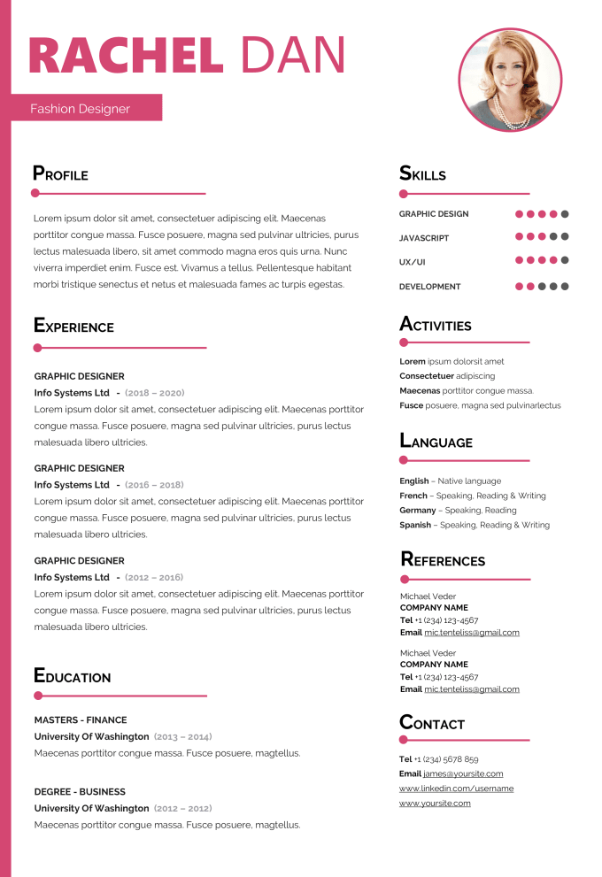 Design Attractive Resume Edit Your Cv And Linkedin Profile By