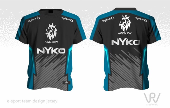 create esport jersey sublimation design