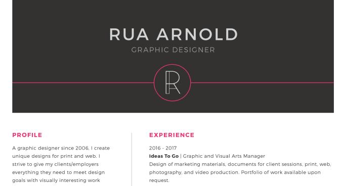 emilandbea : I will create a resume and cover letter design for $50 on  www.fiverr.com