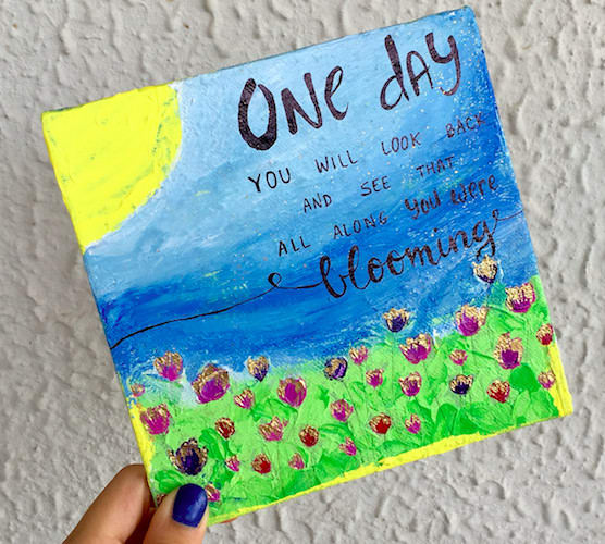 make mini canvas paintings with quotes
