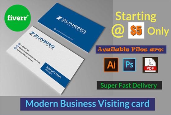 Unique Modern Creative Minimalist Business Card