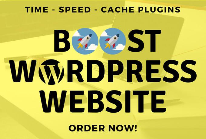 Speed up your wordpress website speed in 24hr by Jimishsoni