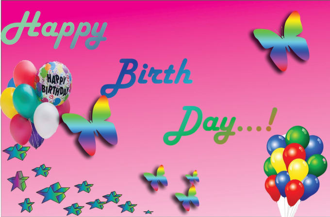 Super Logo And Birthday Card Designs For You By Irushan